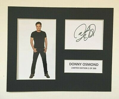 Limited Edition Donny Osmond Signed Mount TV Film Music  Preprint Display • 5.99£
