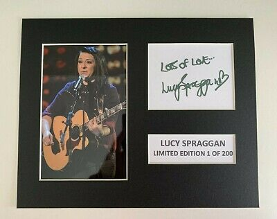 Limited Edition Lucy Spraggan Signed Mount TV Film Music  Preprint Display • 5.99£