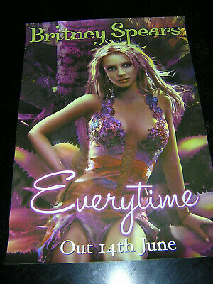 Original Britney Spears Promotional Poster - Everytime • 7.95£