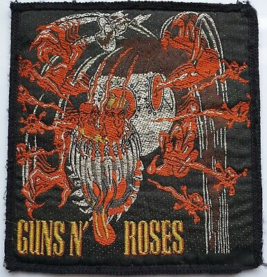 GUNS N ROSES VINTAGE ORIGINAL WOVEN PATCH APPETITE FOR DESTRUCTION GNR 80's WORN • 15£