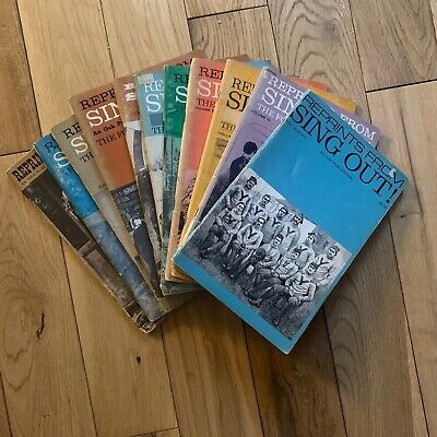 Oak Publication Reprints From Sing Out Folk Magazine Sheet Music Volumes 1 - 11 • 14£