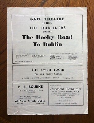 1965 The Dubliners - The Rocky Rock To Dublin - Gate Theatre Band Programme  • 9.39£