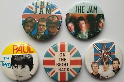 The Jam Vintage Button Badges On The Right Track Punk Scooter Mods Paul Weller  • 7.99£