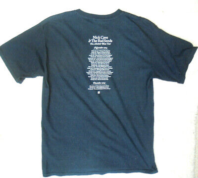 Nick Cave & The Bad Seeds Vintage T Shirt Size L 1994 The Abbattoir Blues Tour • 12£