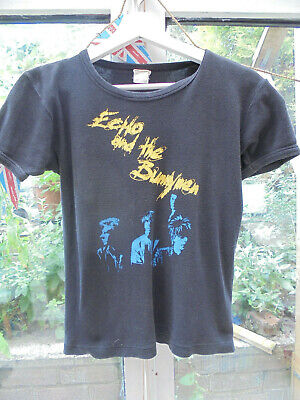 Echo And The Bunnymen Vintage Original T Shirt Size XS 1982 • 9£