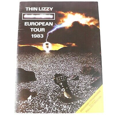Thin Lizzy Thunder And Lightning 1983 European Tour Programme With Poster • 19.99£