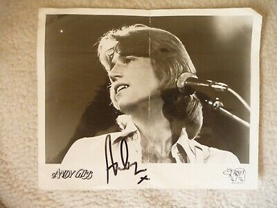 Andy Gibb Signed Black & White Photo - Creased But Clean & Very Collectable! • 2.50£