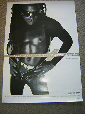 Original Lenny Kravitz Promotional Poster - Rock And Roll Is Dead • 6.95£