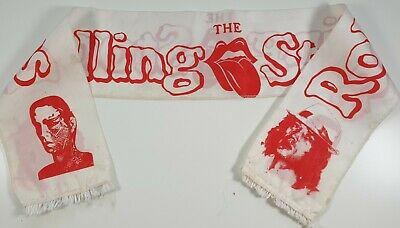 The Rolling Stones Vintage Printed Scarf Blues Rock Mick Jagger Keith Richards  • 12£