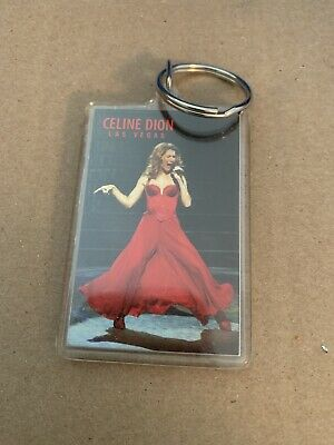 Celine Dion Las Vegas Keychain 2 Sided Photo • 6.39£