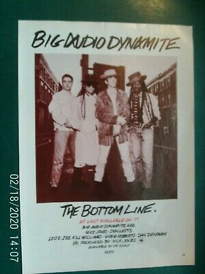 BAD BIG AUDIO DYNAMITE - THE BOTTOM - A4 POSTER ADVERTS 1980s Original Free Post • 4.99£