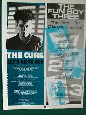 THE CURE -  / ROBERT SMITH - LETS GO   1/2  A4 PAGE POSTER ADVERT 1980s Original • 3.99£