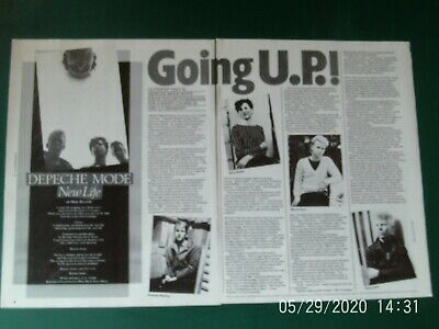 DEPECHE MODE - EARLY FIRST SINGLE   2 PAGE 2 SIDE 1981 Article Original 1980s • 3.99£