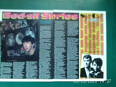 MARC ALMOND SOFT CELL EARLY 1981 2 PG 2 SIDE UK MAGAZINE Article Original 1980s • 3.99£