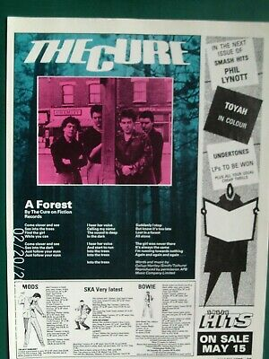THE CURE -  / ROBERT SMITH - A FOREST 1/2  A4 PAGE POSTER ADVERT 1980 Original • 4.99£