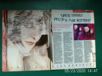 SIOUXSIE AND THE BANSHEES  2 PAGE 2 SIDE  UK MAGAZINE Article Original 1985 • 4.99£