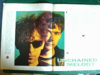 JESUS AND MARY CHAIN 1989 2 PAGE 2 SIDE  UK MAGAZINE Article Original 1980s • 3.99£