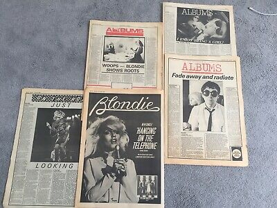 BLONDIE ~hanging In The Telephone SOUNDS PROMO ADVERT + LP & GIG REVIEWS 1978~80 • 4.95£