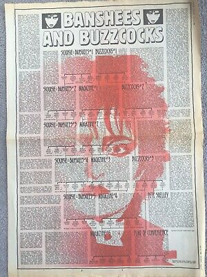 Siouxsie & The Banshees + Buzzcocks 1982 Sounds Centre Spread G'fold Family Tree • 4.95£