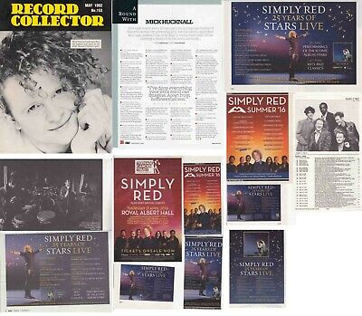 SIMPLY RED : CUTTINGS COLLECTION - Adverts Interview  • 3.50£