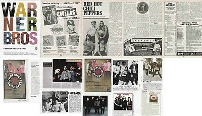 RED HOT CHILI PEPPERS : CUTTINGS COLLECTION - Adverts  Magazine Articles • 3.50£