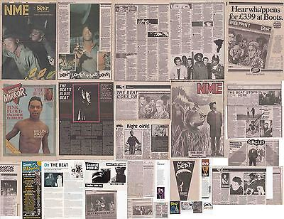 THE BEAT : CUTTINGS COLLECTION - Interviews Adverts • 5£