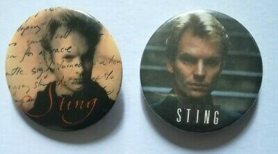 Sting (Police) . (2 X Pin Badge) Vintage • 3.99£