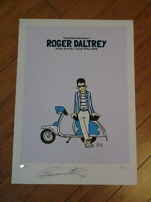 Pete McKee Roger Daltrey Signed Limited Edition Print  • 195£