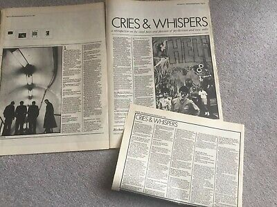 JOY DIVISION Cries & Whispers 3 Page NME VINYL DETAILED CAREER RETROSPCTIVE • 4.95£