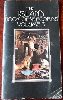 THE ISLAND BOOK OF RECORDS VOLUME 3 BOOK CATALOGUE (EARLY 1970's) UK • 24.99£
