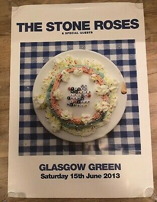 The Stone Roses - Glasgow Green Official Poster 15/6/13 • 65£