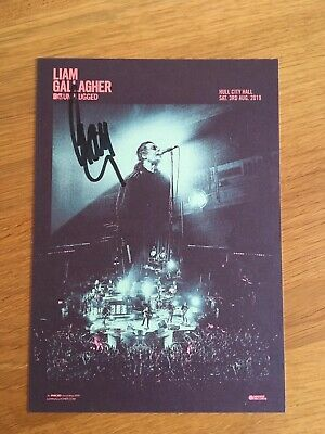 Liam Gallagher - Hand Signed MTV Unplugged Card, 15 X 21 Cm • 33.95£