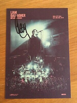 Liam Gallagher - Hand Signed MTV Unplugged Card, 15 X 21 Cm • 29.99£