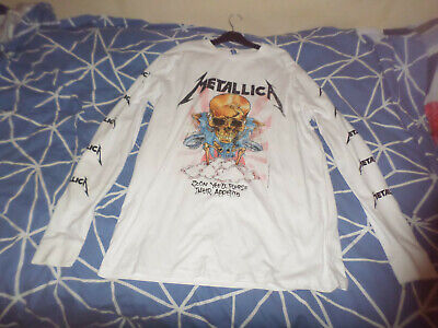 METALLICA Vintage T-shirt ( LARGE ) 46-INCH CHEST • 15£