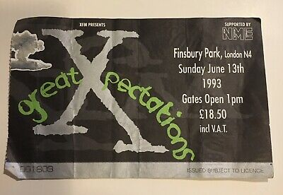 The Cure + Others Used Ticket Stub Finsbury Park London 13th June 1993. • 1.30£