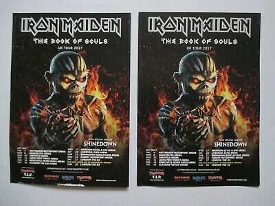 Iron Maiden Book Of Souls 2017 Tour Flyers • 2.50£