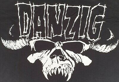 Danzig 2019 Official Classic Skull T Shirt Heavy Metal Goth Rock Size Large • 12£