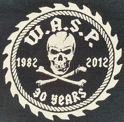 Wasp Official 1982 - 2012 30 Years Tour T Shirt Road Crew Heavy Metal Size Large • 16£