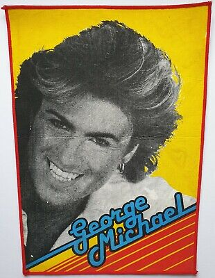 GEORGE MICHAEL WHAM! VINTAGE ORIGINAL BACK PATCH WHAM 80's POP DISCO DANCE  • 15£