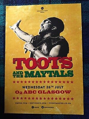 Toots And The Maytals - Concert / Gig Poster, Glasgow July 2017 • 19.99£
