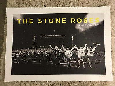 The Stone Roses - Official Manchester Ethiad Lithograph, 45/50 • 117.50£