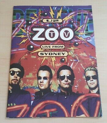 U2 Zoo TV Live From Sydney 1994 UK Promo Only Booklet/sticker Sheet  • 24.99£