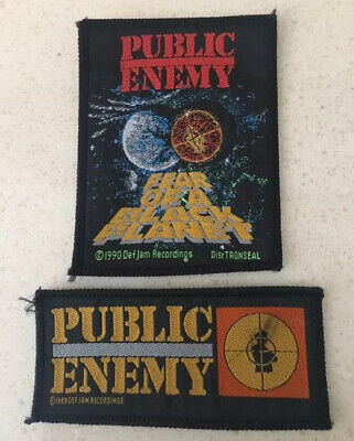 Public Enemy -  Woven Sew On Patch X 2 • 5£