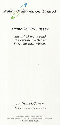 Dame Shirley Bassey - Compliment Slip • 10£