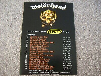 Motorhead / Clutch 2006 Uk Tour Flyer • 1.49£