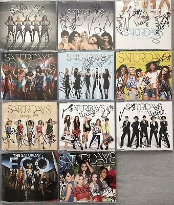 The Saturdays 11 Fully Signed Cd Singles & Gold Out Poster • 100£