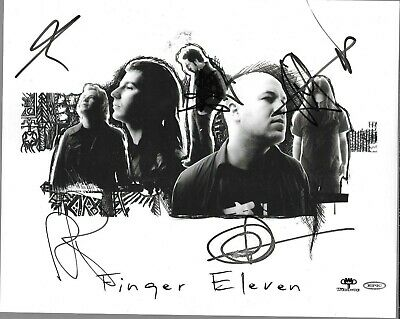 Finger Eleven Genuine Signed Promo Photo 10  X 8  Autograph Wynd-up/epic • 3.75£