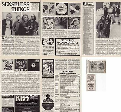 SENSELESS THINGS : CUTTINGS COLLECTION - Interview Adverts • 3.50£