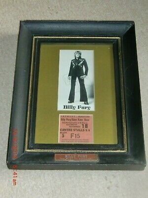 BILLY FURY. AUTOGRAPHED 3x6 INCH PHOTO, CONCERT TICKET With AUTHENTICITY CERT. • 69.99£