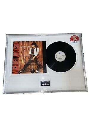 Michael Jackson - Signed Record In Frame - Leave Me Alone • 665£